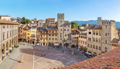 Piazza Grande the heart of the city of Arezzo